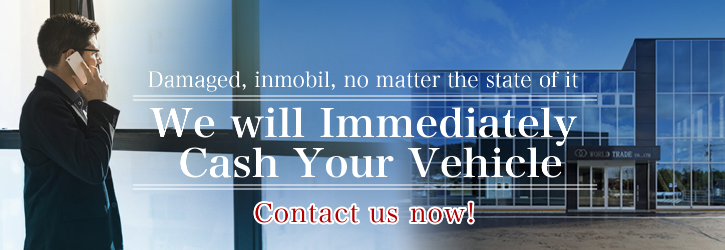Damaged, inmobil, no matter the state of the it we will immediately cash your vehivle!